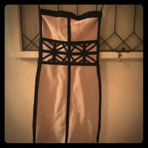 Bebe strapless bandage dress